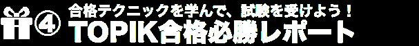 TOPIK合格必勝レポート