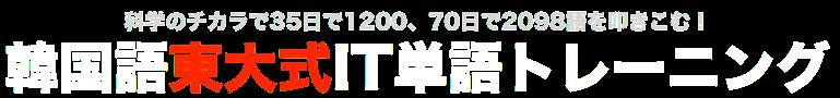 韓国語東大式IT単語トレーニング