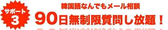 サポート3 韓国語なんでもメール相談 90日間無制限!