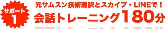 サポート1 韓国語マスターとのスカイプレッスン180分間提供!