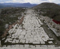 The north-south Colonnaded Street, Sagalassos, Turkey